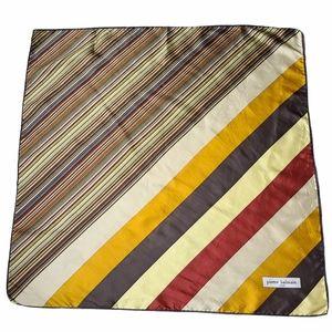 Pierre Balmain Multicolor Striped Silk Scarf
